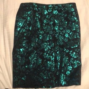 JCrew Metallic Pencil Skirt
